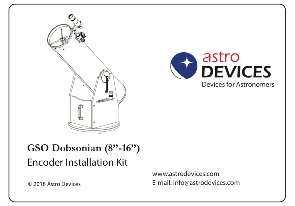 GSO - Orion Dobsonian Encoder Kit (with spring tensioners)